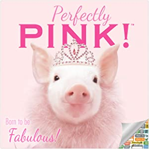 Perfectly Pink Pigs Calendar 2021 Bundle - Deluxe 2021 Pigs Wall Calendar with Over 100 Calendar Stickers (Playful Piggy's Gifts, Office Supplies)