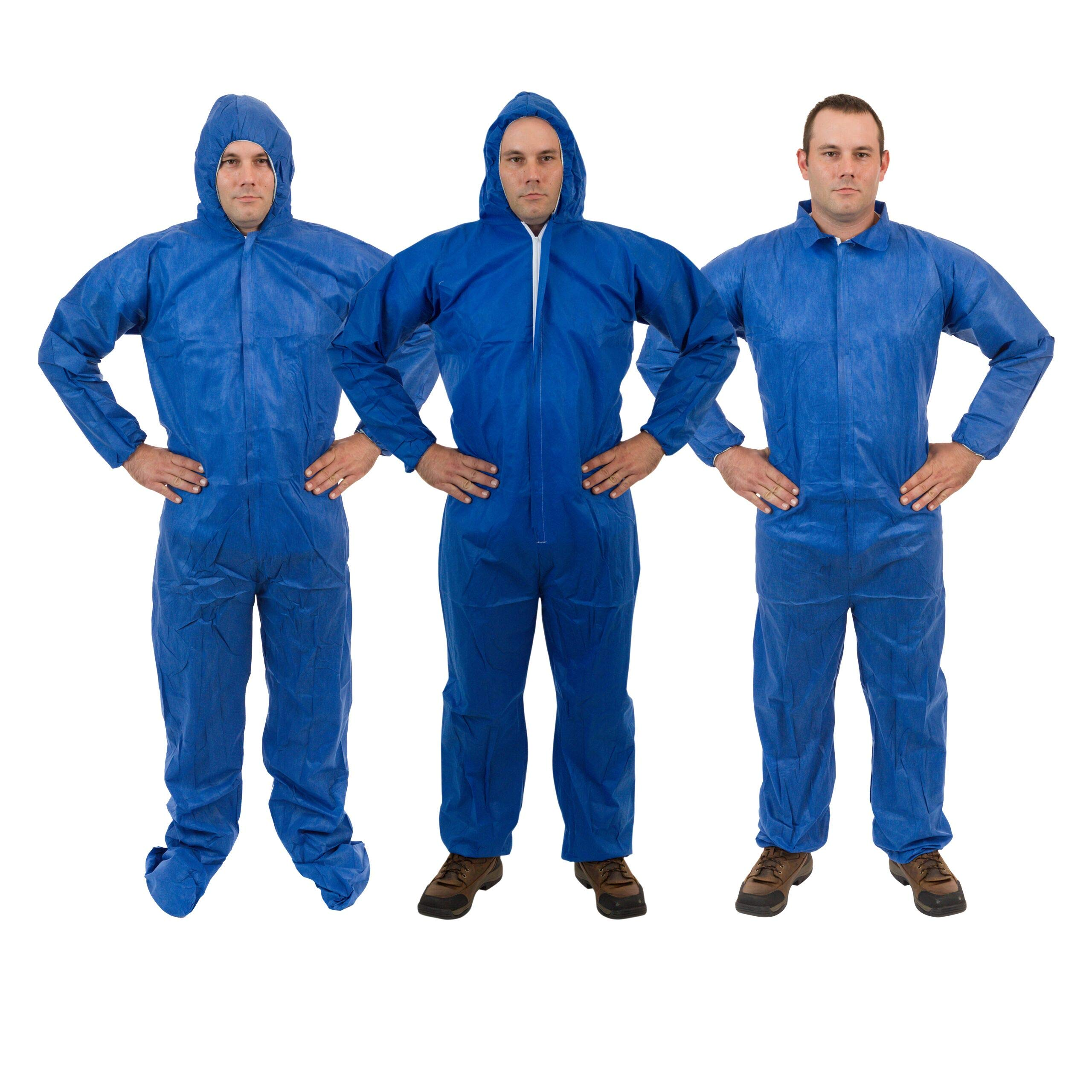International Enviorugard – Lightweight 3 Layer SMS General Protective Coverall for General Cleanup (25 per case) (3XL, Blue) by International Enviroguard (Image #3)