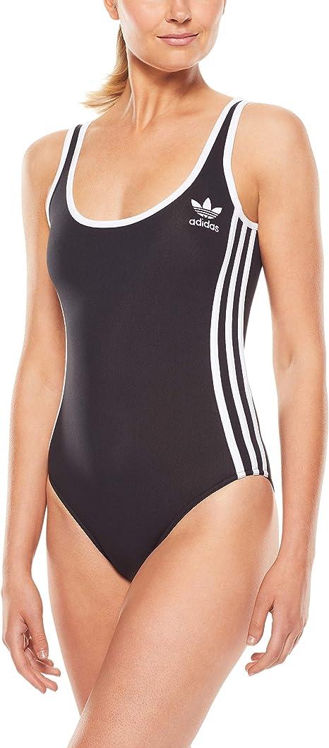 adidas Damen Badeanzug Infinitex 3 Stripes 1 Piece, Black