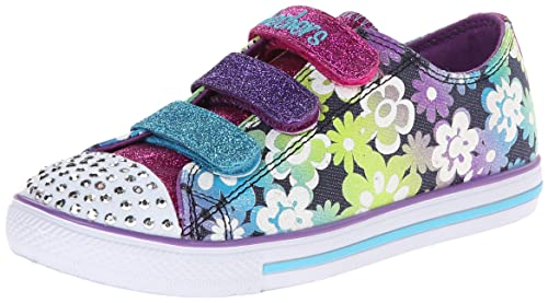 Skechers Chit Chat Glint & Gleam, Girls' Low-Top Sneakers, Multicolor (