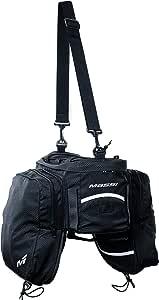 Massi portabultos CM232 Bolsa Trasera para Bicicleta con alforjas Laterales, Adultos Unisex, Negro, u: Amazon.es: Deportes y aire libre