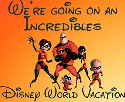 Amazon Com We Re Going To Disney World The Incredibles 30 Piece
