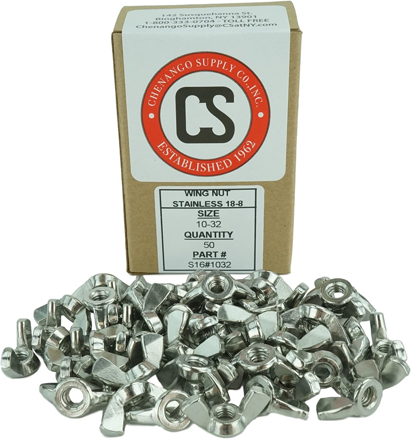 Powlankou 50 Pieces 1//4-20 Stainless Wing Nut 18-8 Wing Nut 304 Stainless Steel