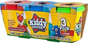 Kiddy Dough 3 Pack de Color plastilina – Mega Modelado y esculpido Playset con 3 latas Individuales de 5 onzas: Amazon.es: Juguetes y juegos