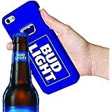 Bud Light Bottle Opener Case for Apple iPhone 6/6S Beer Opener Case. BudLight Slim Portable iPhone Case with Bottle Opener for Beer. Bud Premium Protective Case 5.5 inch Hybrid– Blue Style