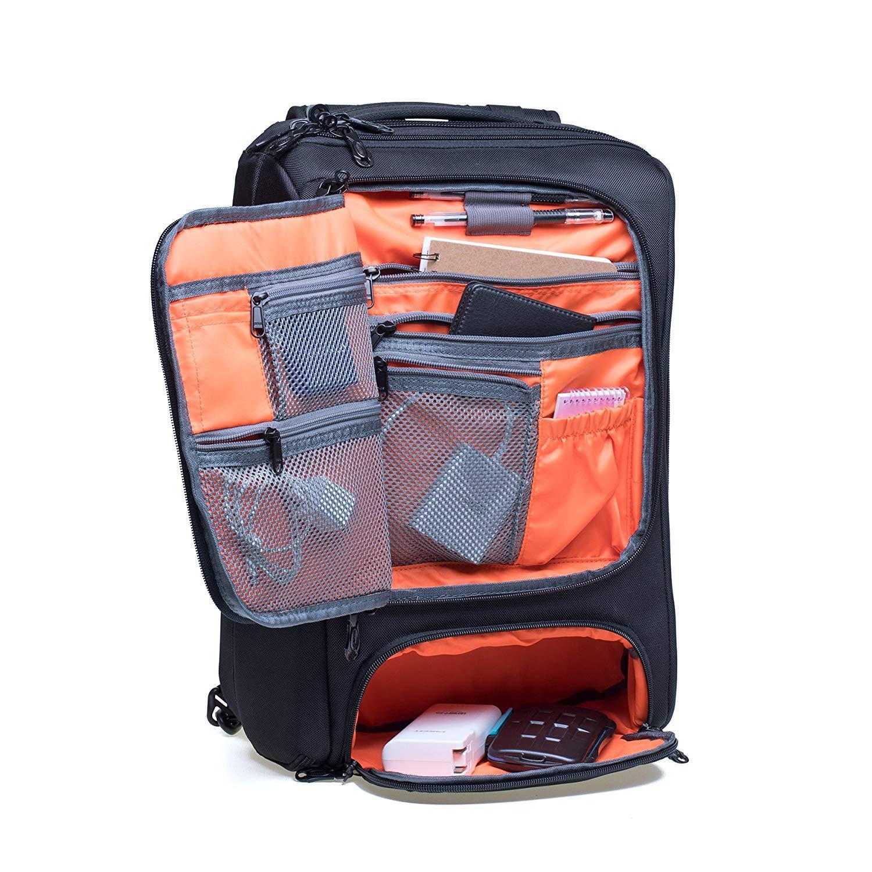 KAUKKO Laptop Outdoor Backpack, Travel Hiking& Camping Rucksack Pack, Casual Large College School Daypack, Shoulder Book Bags Back Fits 15'' Laptop & Tablets (4Black) by KAUKKO (Image #7)