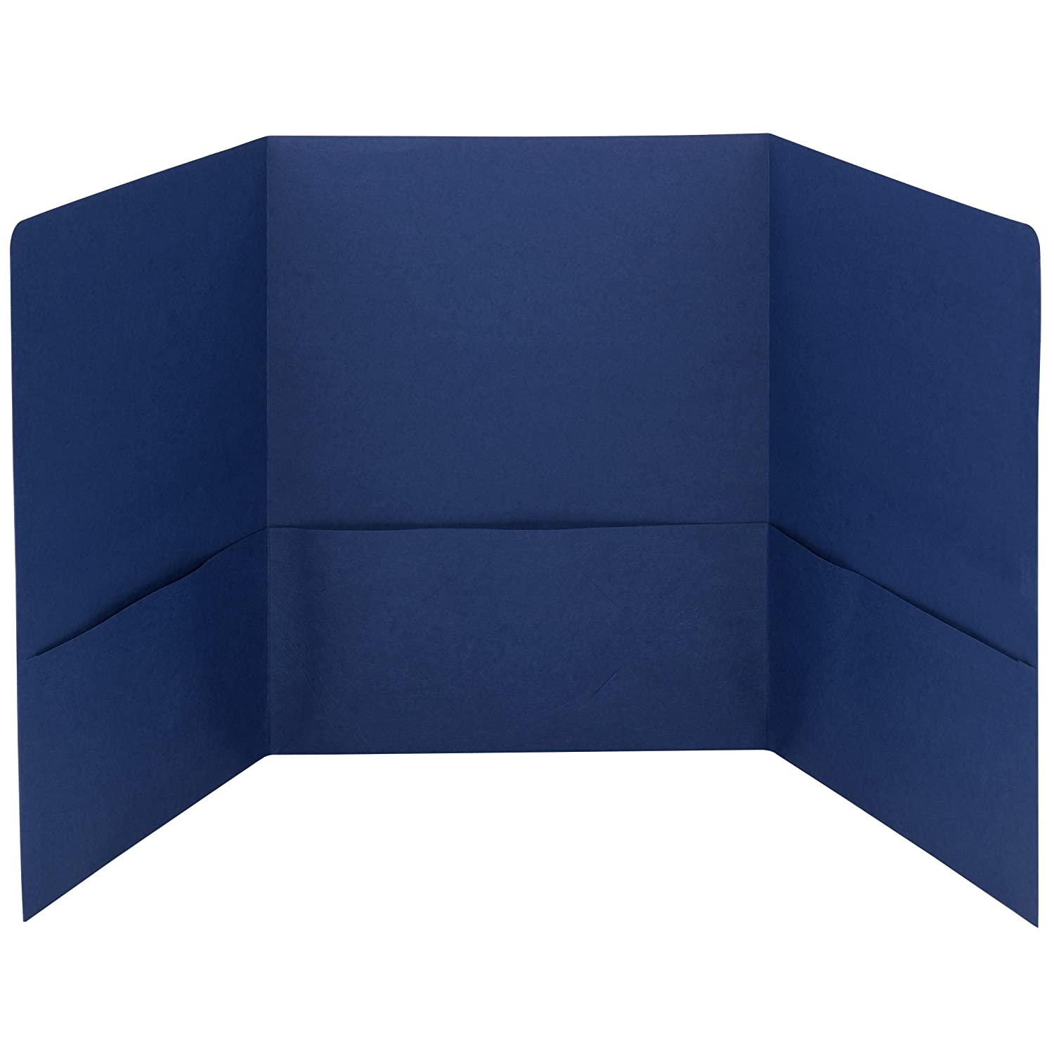 blue trifold