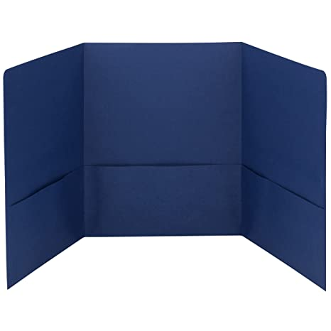 amazon com smead tri fold pocket folders letter size dark blue