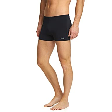 62640eceac Zoggs Men's Cottesloe Hip Racer Swimming Trunks, Chlorine Resistant Fabric  - Black, UK Size