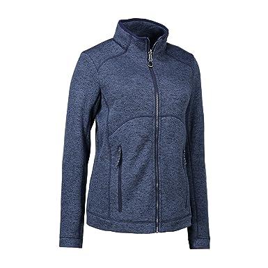 ID - Chaqueta de tejido polar jaspeado con cremallera modelo Zip N Mix para mujer: Amazon.es: Ropa y accesorios