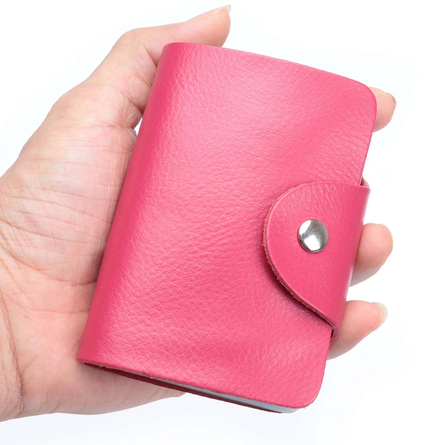 MuLier Soft Leather Case Wallet Bag Holder for 60 Credit Cards Coffee