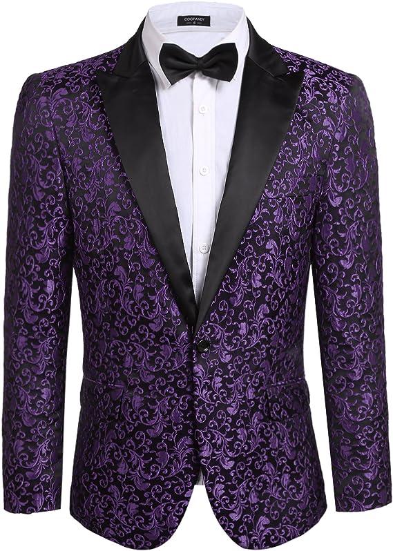 aco de fiesta de traje elegante para cena Floral boda Blazer graduación esmoquin, traje whazon
