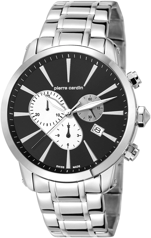 Pierre Cardin Herren-Armbanduhr Fort Loin Chercher Chronograph Quarz Edelstahl PC105441S16