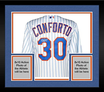 free shipping f9985 f5a31 Framed Michael Conforto New York Mets Autographed Majestic ...