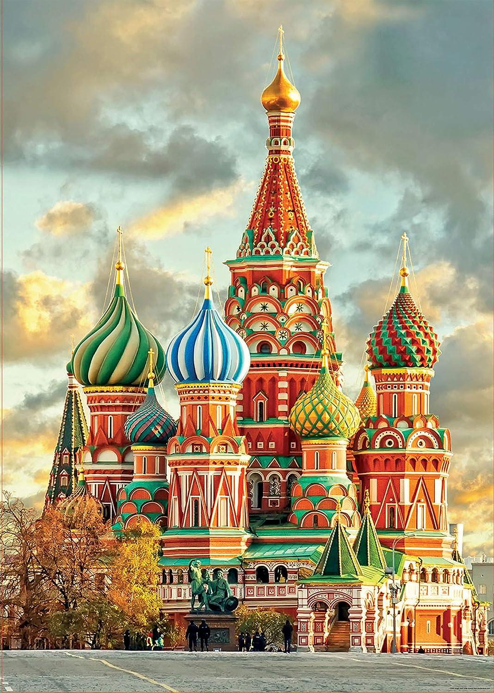 Educa Borras 17998 1000 Teile Basilius Kathedrale Moskau Puzzle