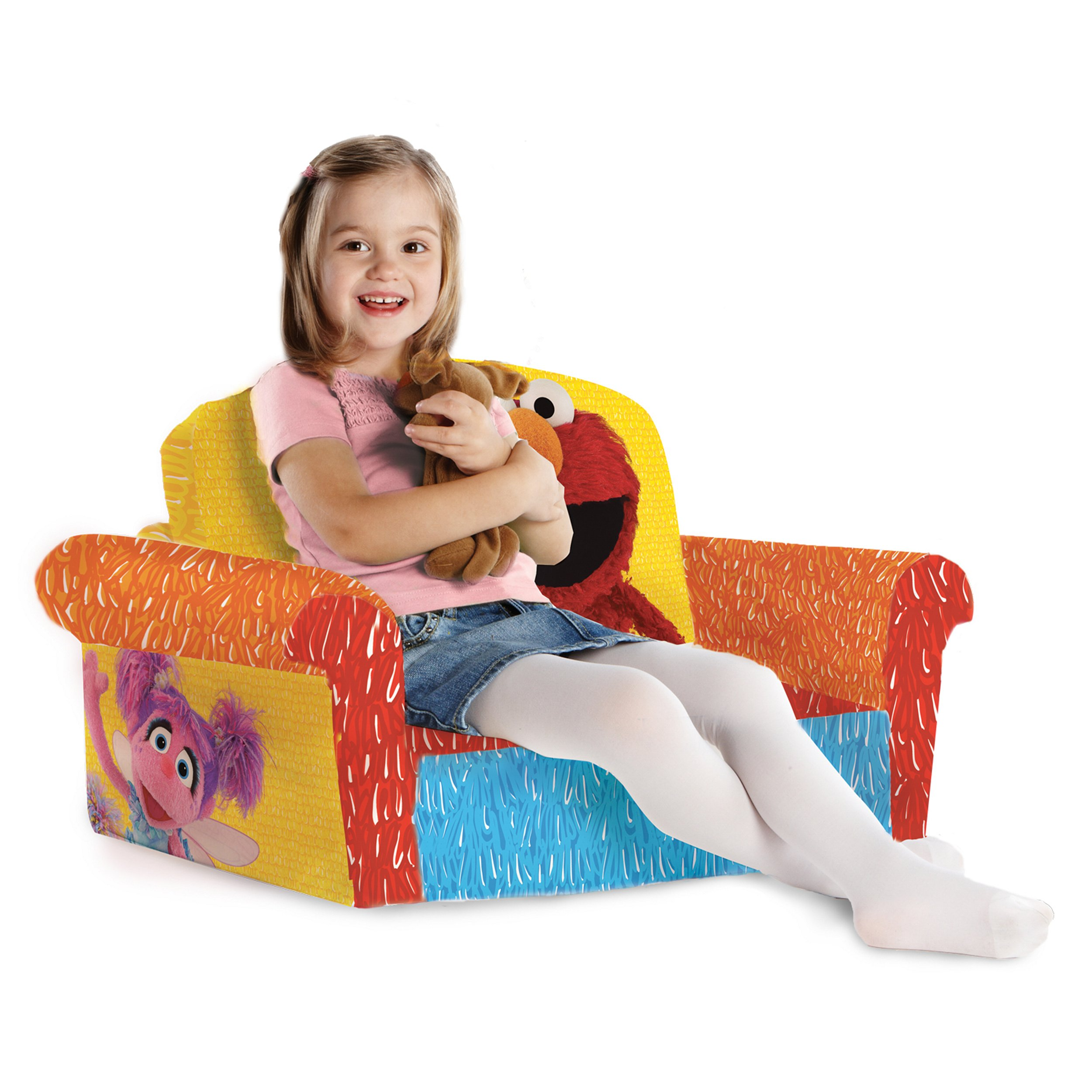 Marshmallow Furniture, Children's 2 in 1 Flip Open Foam Sofa, Sesame Street's Elmo/Sesame, by Spin Master by Marshmallow Furniture (Image #6)