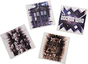 Vandor Doctor Who 4 Piece Ceramic Coaster Set, Multicolored