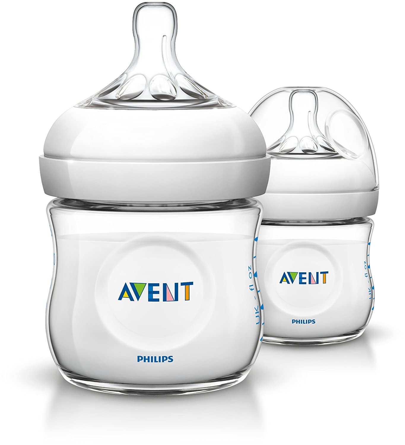 Philips Avent SCF690/27 - Pack de 2 biberones, tetina suave y flexible, anticó licos, PP 0% BPA, 125 ml, color transparente anticólicos