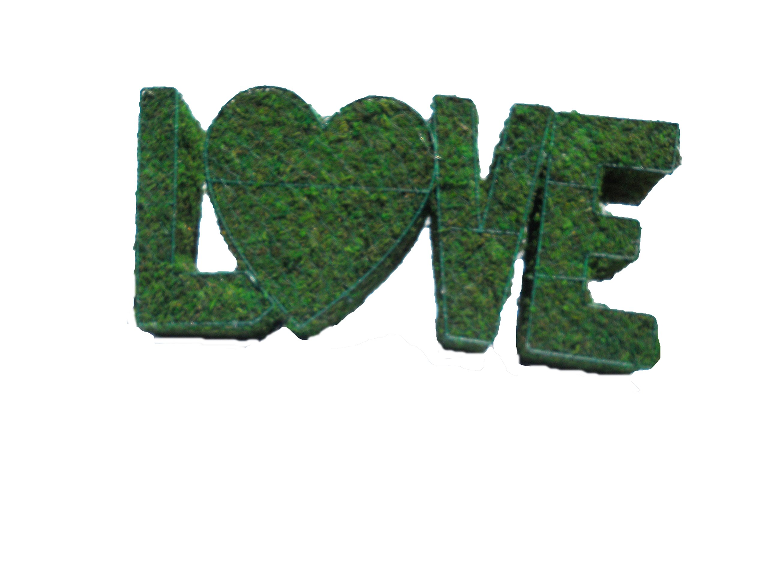Love 25 inches long x 12 inches high x 6 inches wide Indoor Outdoor Hand Wired Animal Topiary Frame Structure Filled With Moss