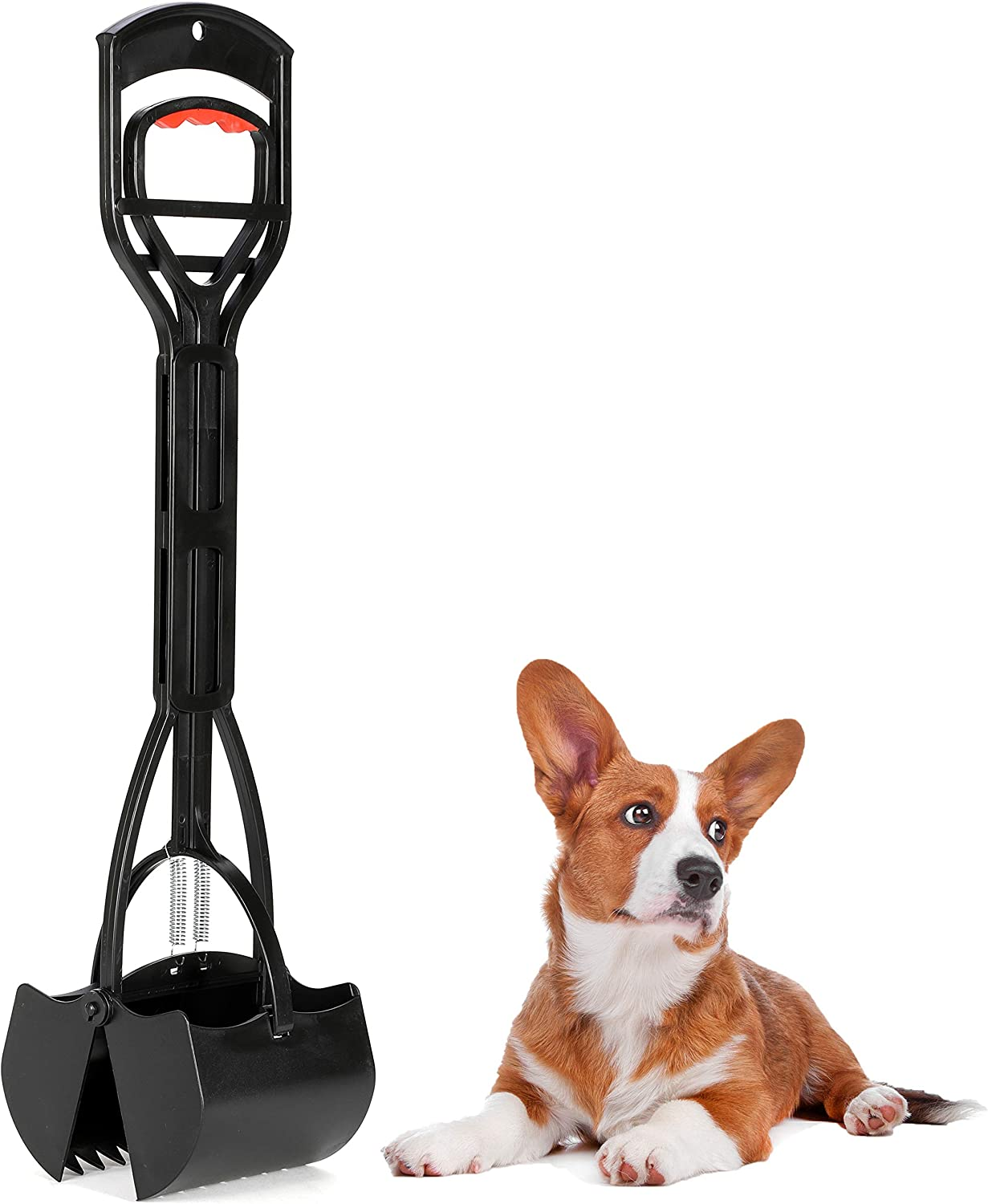 Dogit Waste Scoop, Dog Pooper Scooper & Rake Combo for Easy Grass & Pavement Pickup
