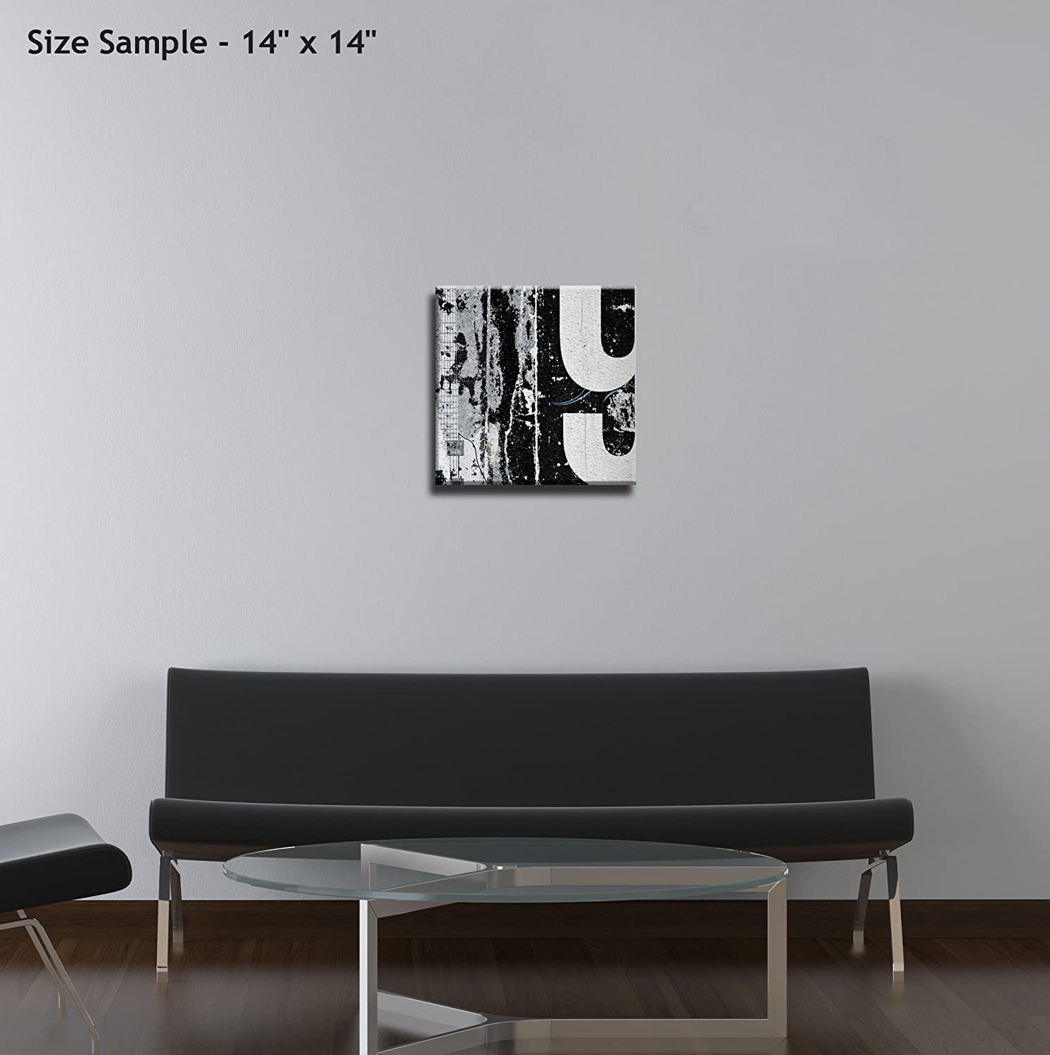 JP London Ready to Hang Made in North America Gallery Wrap Heavyweight Canvas Wall Art Frozen Winter Tree Snow Forest 14in SQSCNV2042