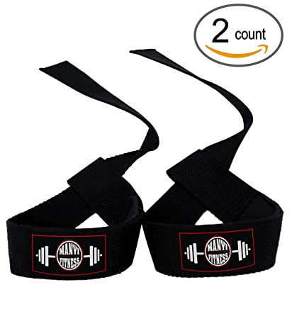 Lifting Straps, Cotton Lifting Straps With Adjustable Padded Wrist Wrap -  For Weight Lifting, Bodybuilding, Crossfit, Powerlifting, Xfit, Assist Grip