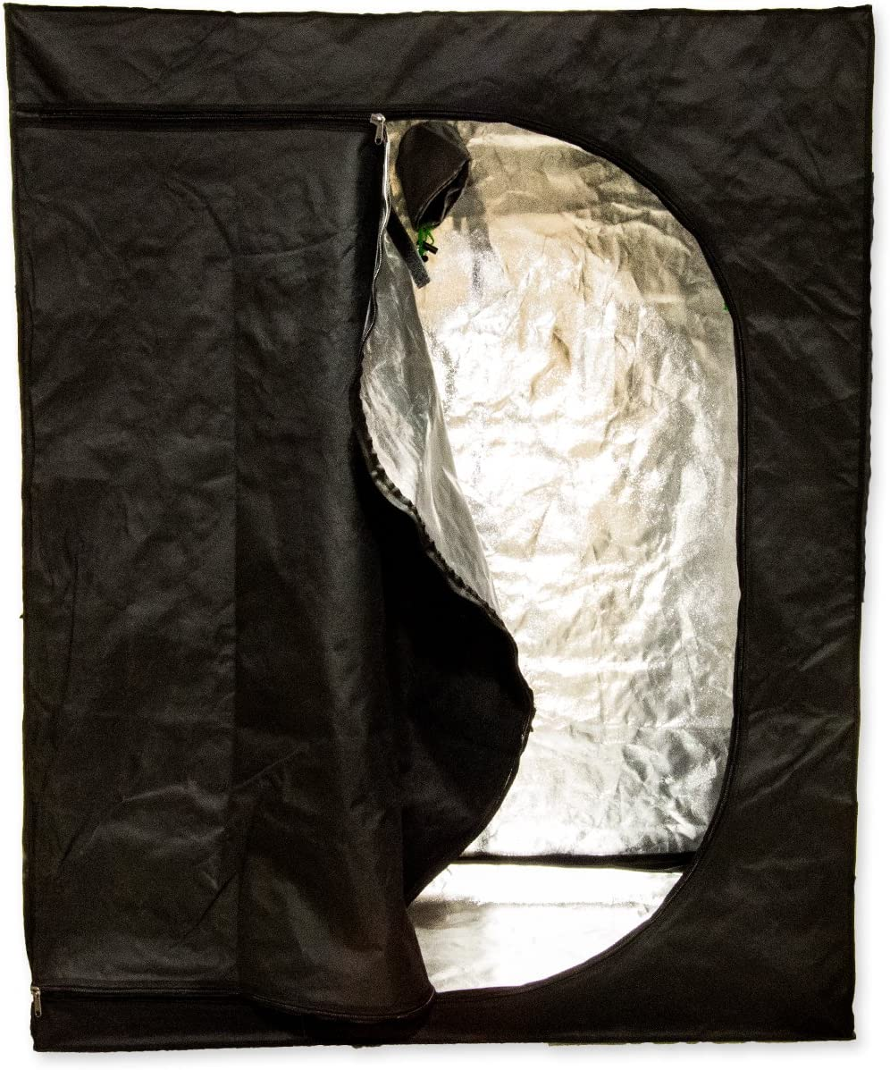 SciencePurchase Reflective Mylar 48 x 24 x 60 Hydroponics Grow Tent Hydro Box Hut Cabinet