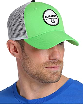 Cinch Men s Green Trucker Mesh Back Cap Green One Size at Amazon ... 0db657d8a9f