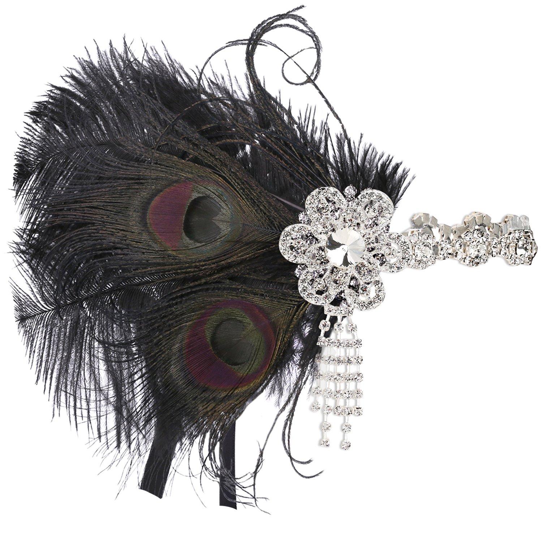 e98442b05b208b BABEYOND 1920s Feder Stirnband 20er Jahre Stil Art Deco Flapper Haarband  Great Gatsby Stirnband Damen Kostü ...