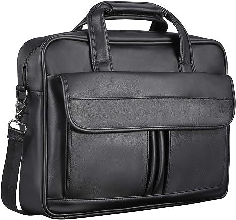 """Large Leather Messenger Satchel Shoulder 13 15.6 17/"""" Laptop Bag Briefcase office"""