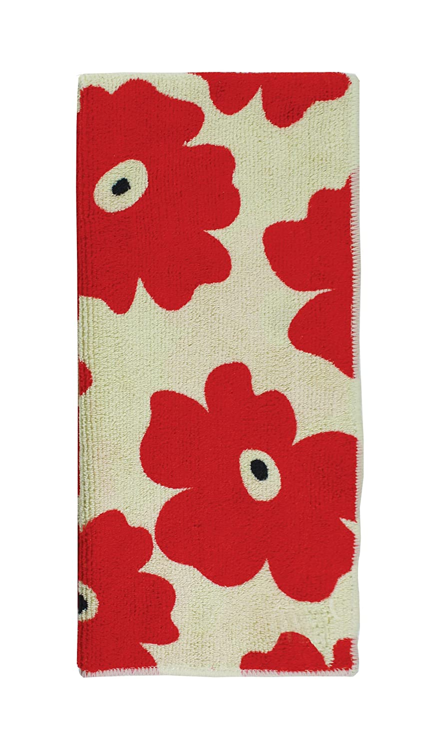 MUkitchen Microfiber Dishtowel, 16 by 24-Inches, Red Poppy