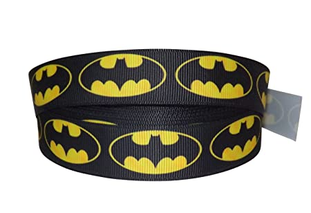 Admirable 2M X 22Mm Batman Super Hero Character Grosgrain Ribbon For Cakes Birthday Cards Printable Opercafe Filternl
