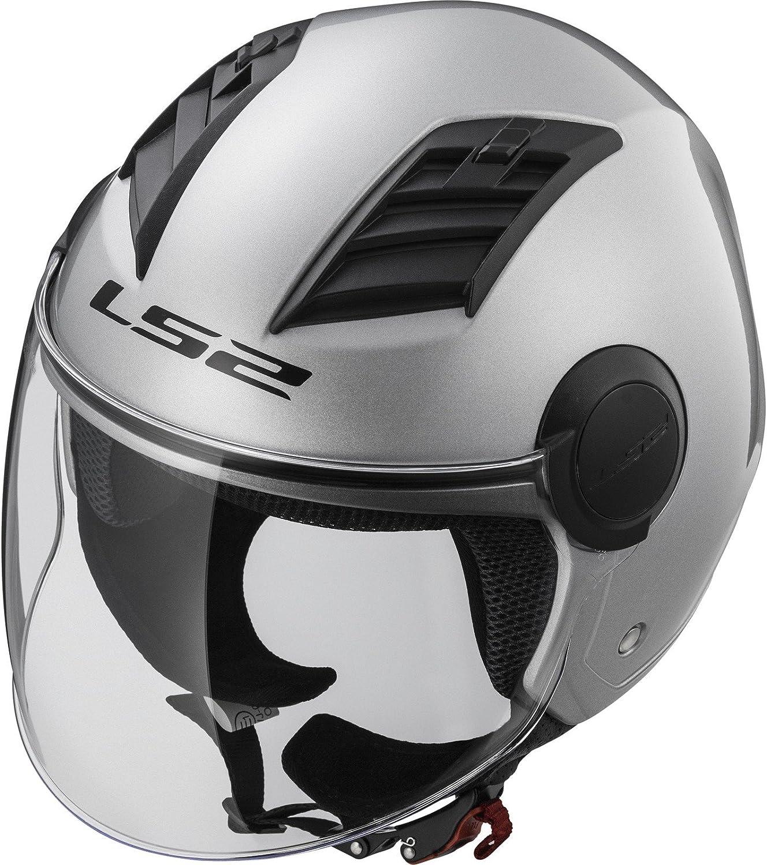 Gloss Silver Long LS2 talla XL Casco para moto Of562 Airflow