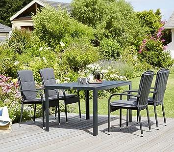 43cea23d6cde JYSK Table Skagen 150 cm + 4 chaises gudhjem: Amazon.fr: Cuisine ...