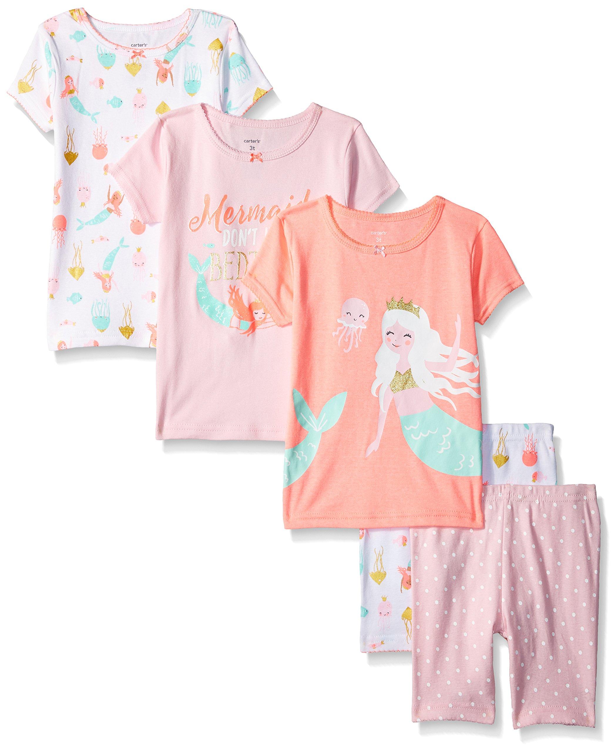 Carter's Baby Girls' 5-Piece Cotton Snug-Fit
