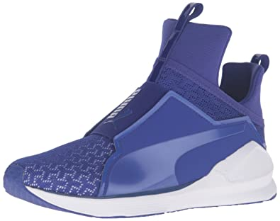 2321d66a1f4 PUMA Women s Fierce eng mesh Cross-Trainer Shoe Royal Blue White