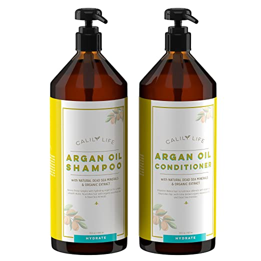 Calily Life Organic Moroccan Argan Oil Shampoo + Conditioner Review