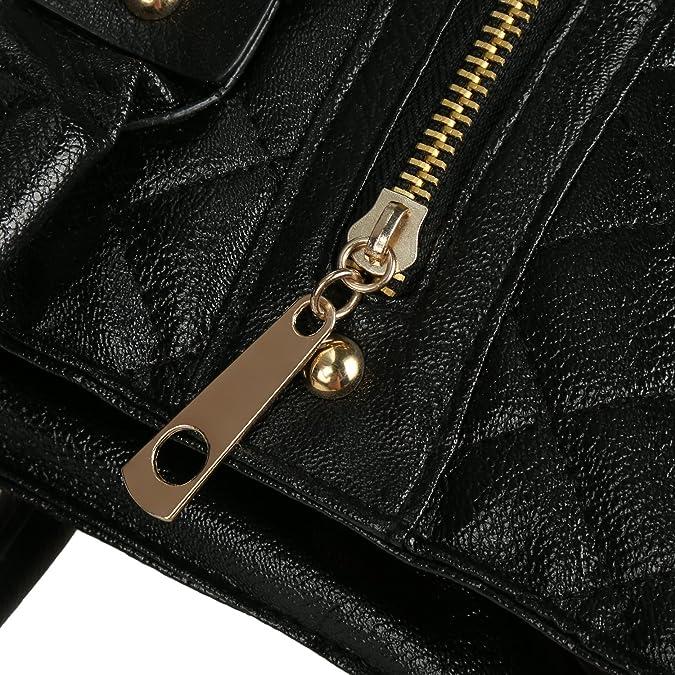Amazon.com: eshion Negro de moda acolchada Oficina de ...