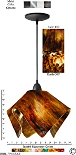 product image for Jezebel Signature JRBL-FP16-EAR Black Flame Pendant, Large, Earth