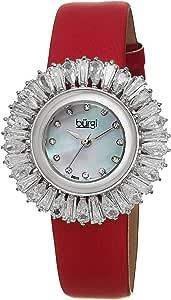 ساعة بورغي لؤلؤية للنساء بسوار من الجلد - BUR092RD