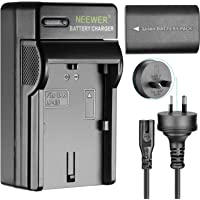 Neewer 1-Pack Canon LP-E6 Replacement Rechargeable Li-on Battery (Black), 7.4V 2000mAh and Charger for Canon LP-E6 Battery Canon EOS 5D 5DS 6D 60Da 7D 60D 7D XC10 Mark II III 80D Cameras (AU Plug)