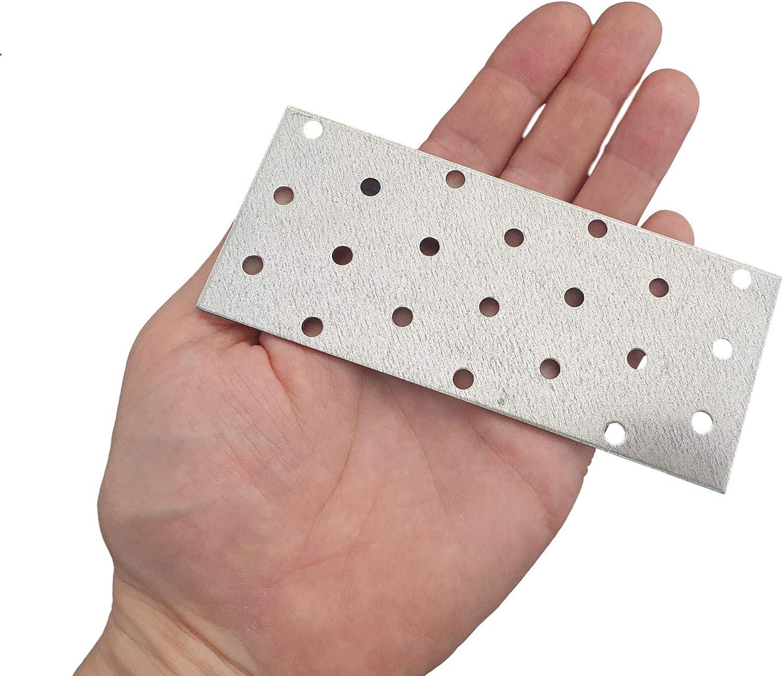 Lot de 10 pi/èces Plaque dassemblage pour connecteur de r/éparation plat en acier 60 x 140 x 2 mm