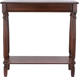 """Décor Therapy Rectangular Console Table, 28.25"""" x 11.8"""" x 28.25"""", Walnut"""