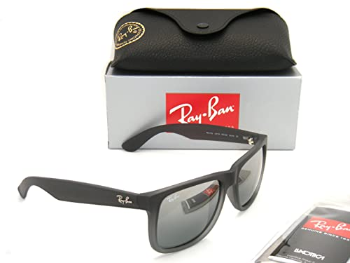 f6c9a950a0 Ray Ban Justin RB4165 852 88 Gray Faded Rubber Gray Gradient Mirror 55mm  Sunglasses  Amazon.ca  Shoes   Handbags