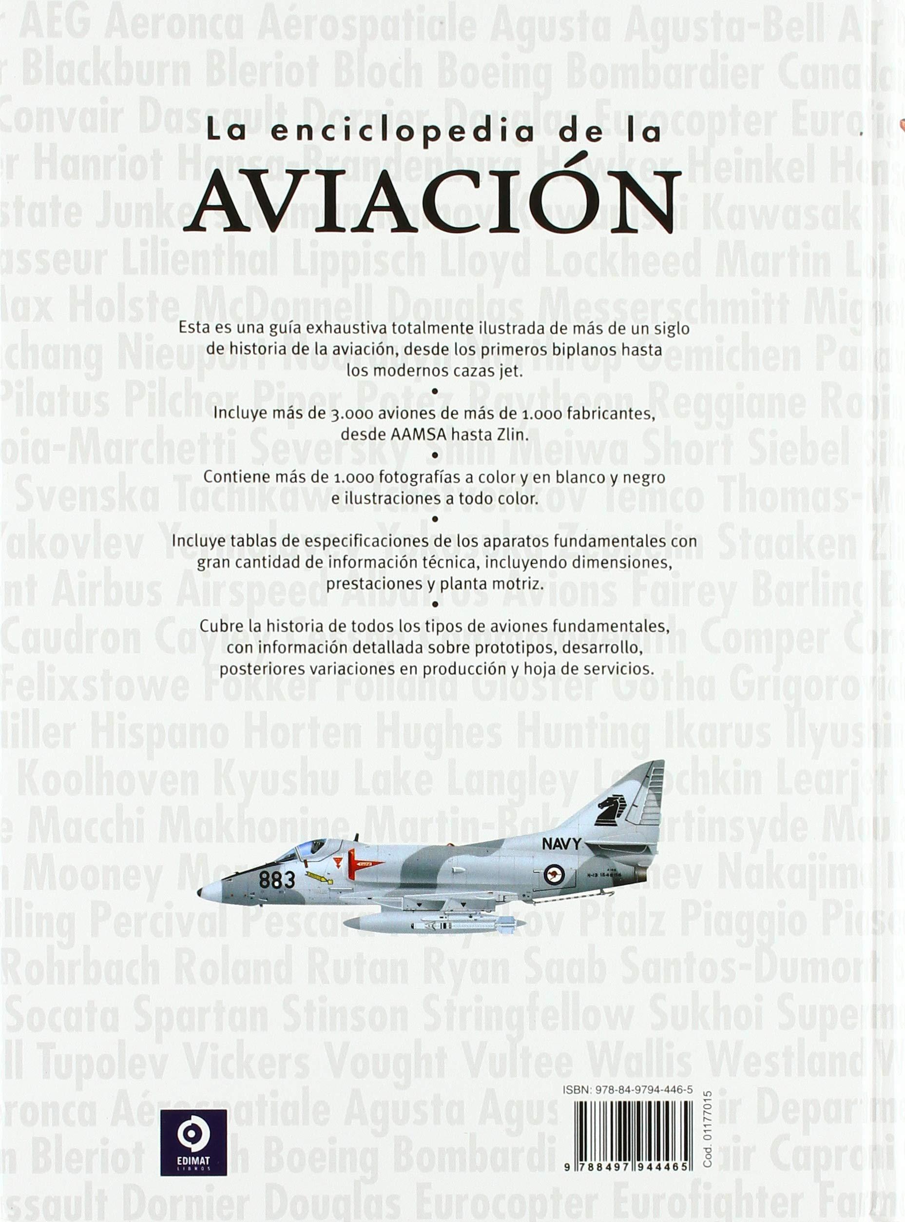 LA ENCICLOPEDIA DE LA AVIACION ENCICLOPEDIAS BÁSICAS DEL TRANSPORTE: Amazon.es: ROBERT JACKSON, MARTIN W. BOWMAN, EWAN PARTRIDGE, SEVEN SERVICIOS EDITORIALES: Libros