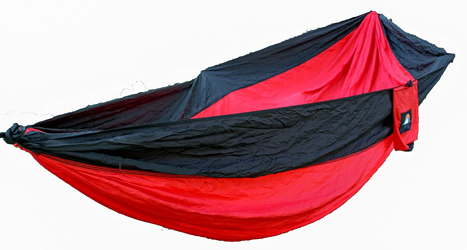 amazon    closeout sale   alpine ridge deluxe nylon camping hammock  includes heavy duty straps     by rise outfitters  red midnight black   sports  u0026     amazon    closeout sale   alpine ridge deluxe nylon camping      rh   amazon