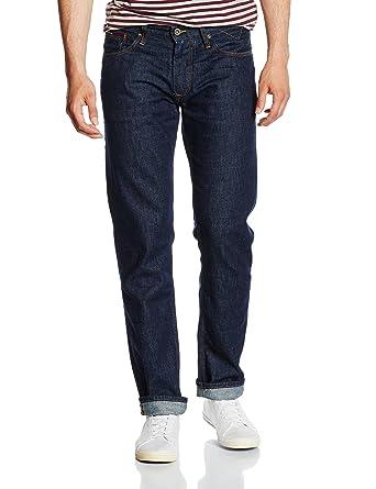 b29a21043 Tommy Jeans Men's Original Ryan Rid Straight Leg Jeans, Blue (Rinsed  Indigo),