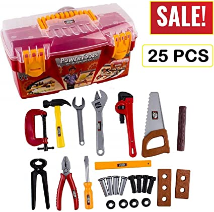 Toddler Boy Toy Tool Box Educational Pretend Play Girl Kids Learning Game 25 Pcs