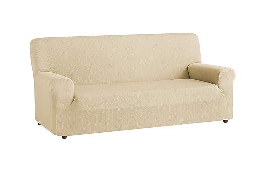 textil-home Funda de Sofá Elástica TEIDE, 2 plazas - Desde 130 a 180 cm. Color Beig