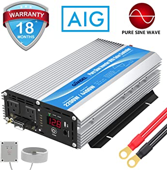 GIANDEL 2200W Pure Sine Wave Power Inverter